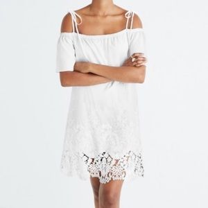 Madewell White Off the Shoulder Dress w/ Lace